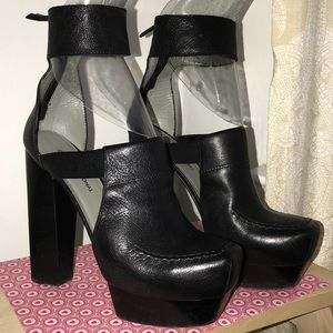 Costume National platform ankle cuff boots